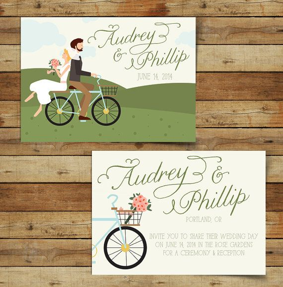 Ride On  Custom Bike Romantic Theme Wedding by heartandfox on Etsy, $90.00