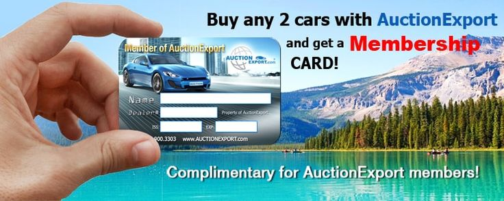 Buy any 2 cars with AuctionExport and get a Membership CARD!