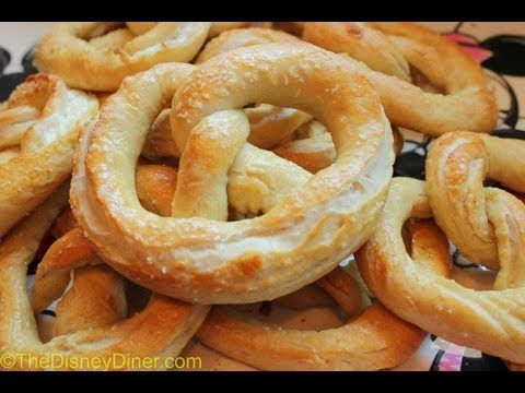 In this 2-in-1 recipe episode, I show you how to make Disney's Original Salty Pretzels and the Sweet Cream Cheese-Filled Pretzels. Enjoy!    For the complete recipes, visit our website at www.thedisneydiner.com