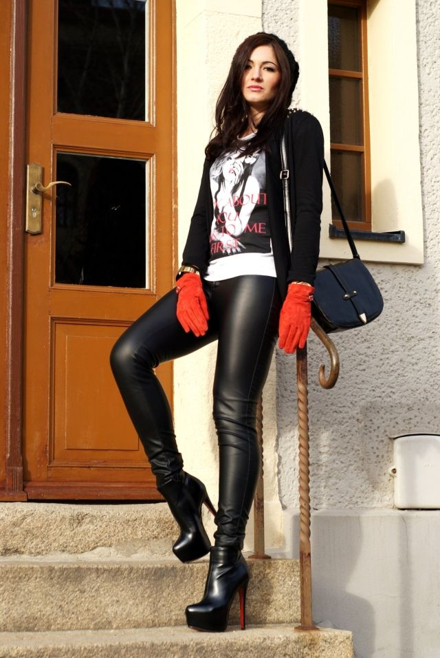 Red Gloves And Louboutin Leather Obsession Pinterest