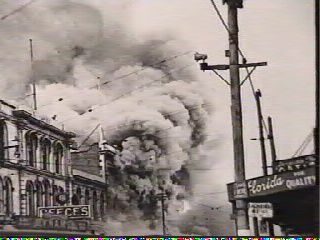"""Ballentynes Disaster. Covering over an acre of land in central Christchurch, New Zealand. Ballentynes Department store, which was considered the """"Harrods"""" of New Zealand, was engulfed by flames within a matter of minutes, killing 41 people. It was the worst fire disaster in New Zealand to this day. All 41 people including 31 women were buried in a mass grave at Ruru Cemetery in Christchurch. The Coroner found that delays in calling the fire brigade, had contributed to the disaster."""