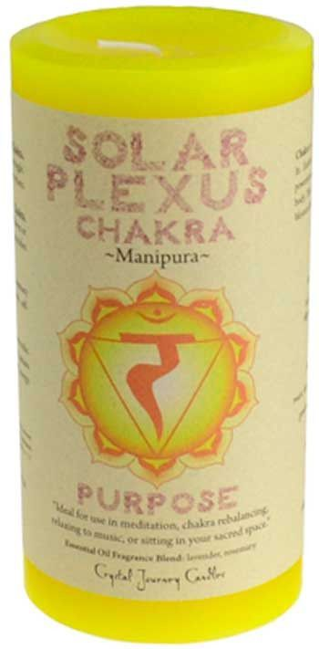 "Solar Plexus Chakra pillar candle 3"" x 6"""