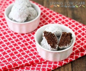 Chocolate Donut Holes (Low Carb) - Living Low Carb One Day At A Time
