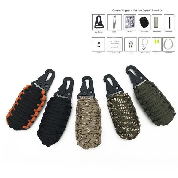 Paracord Survival aids Keychain – BackTrail Outdoors