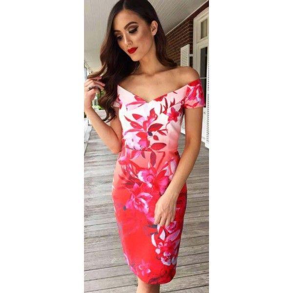 Rozah Off Shoulder Floral Dress