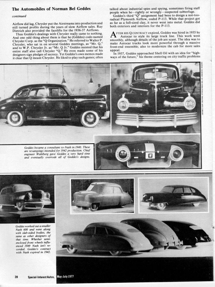 238 best Norman Bel Geddes Design images on Pinterest | Norman ...
