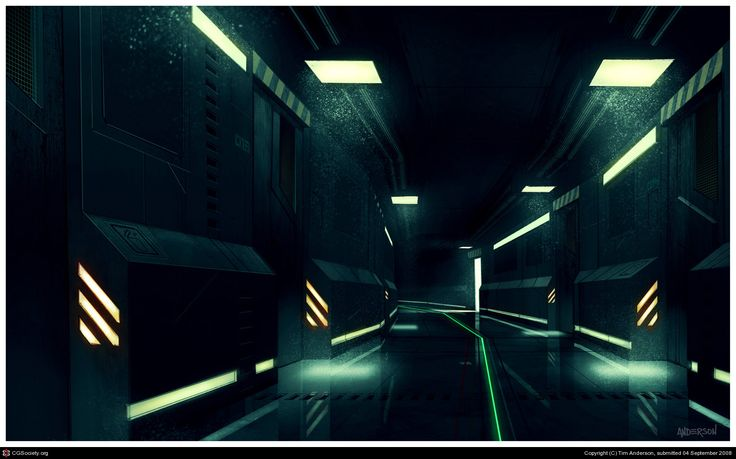 Sci-Fi Interior Concept by Tim Anderson | 2D | CGSociety