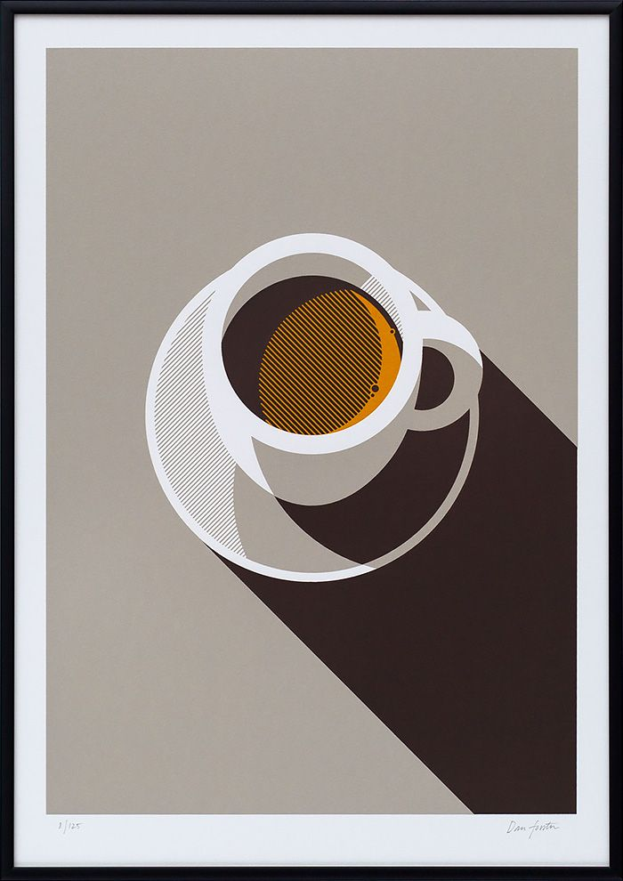 #illyinspires artwork: a Geometric Screen Print by #TheLostFox. #illycoffee