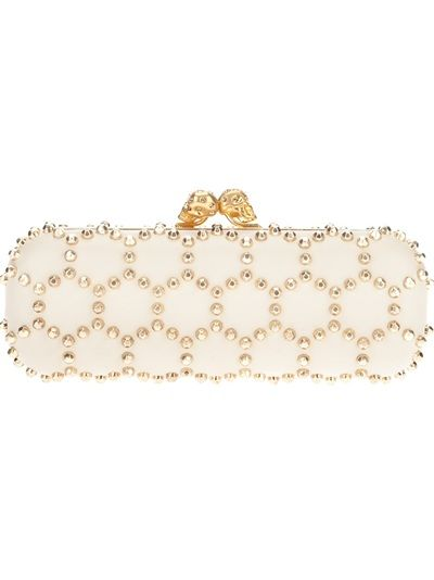 ALEXANDER MCQUEEN Honeycomb Studded Clutch  Women's  fashion , fashionista  , womens accessories , women's pouch , shoulder bag ,  clutch bag , clutch purse , clutch wallet purses, handbags #handbags  #clothes #fashion