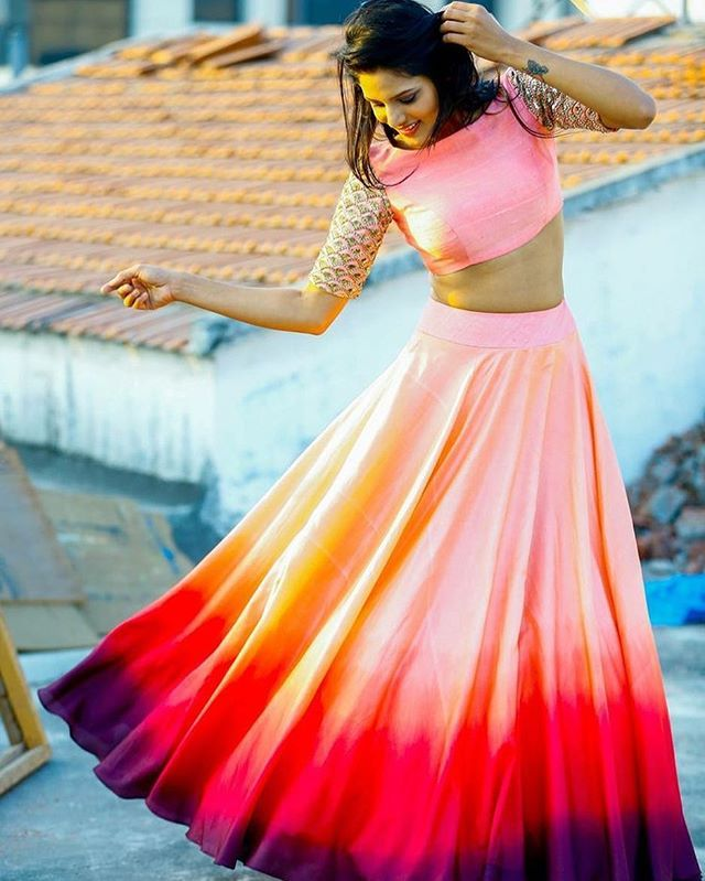 Sister of the bride ? How pretty is this Ombre Lehenga !!! Spotted on Pinterest…