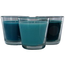 Trio Glass Jar Candle Musk Set of 3 - $5