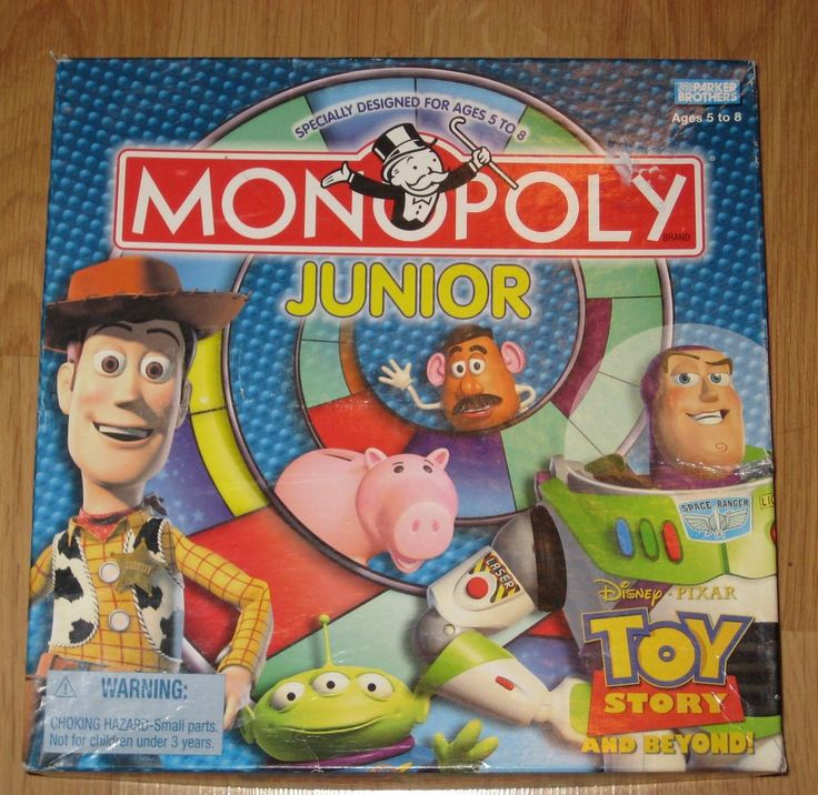 Monopoly Junior Jr Board Game-Disney Pixar 2002 Toy Story Edition-100% Complete #ParkerBrothers