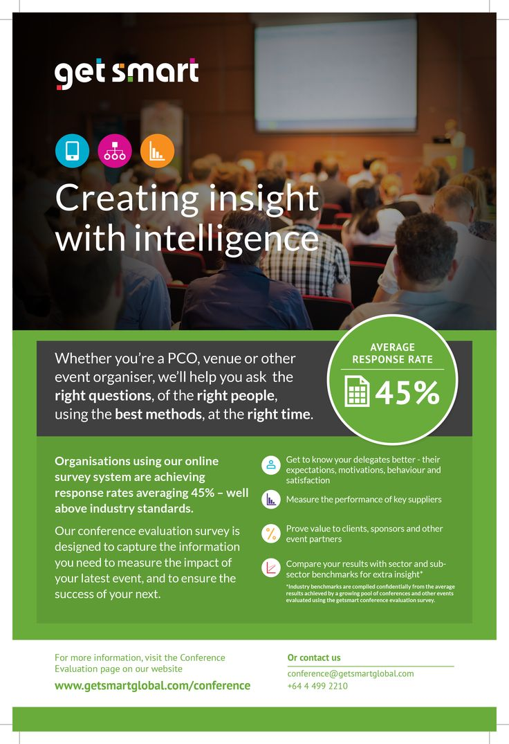 Creating insight with intelligence - Whether you're a PCO, venue or other event organiser, we'll help you ask the right questions, of the right people, using the best methods, at the right time.