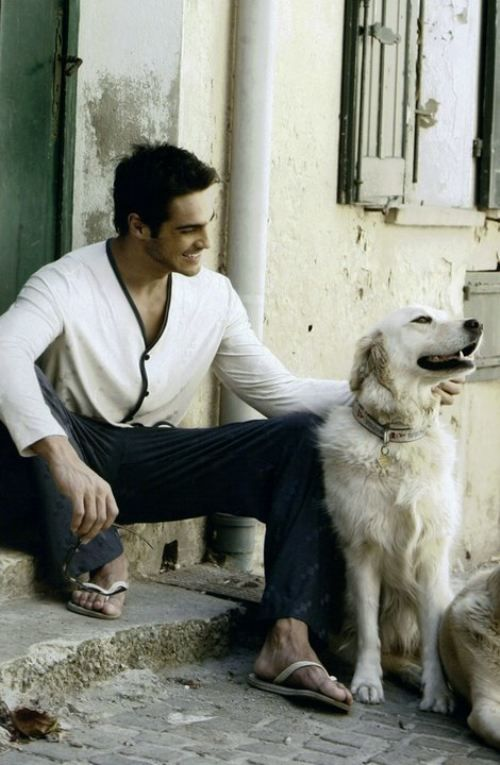 men and dogs <3