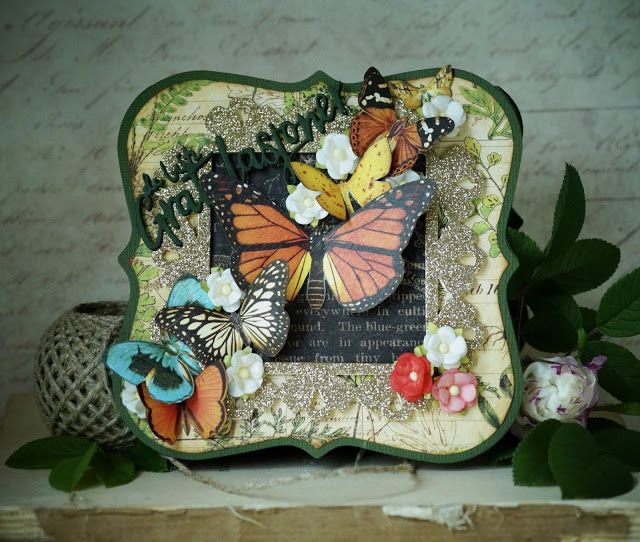 Synnøves Papirverksted: Butterfly card made for a dear friend