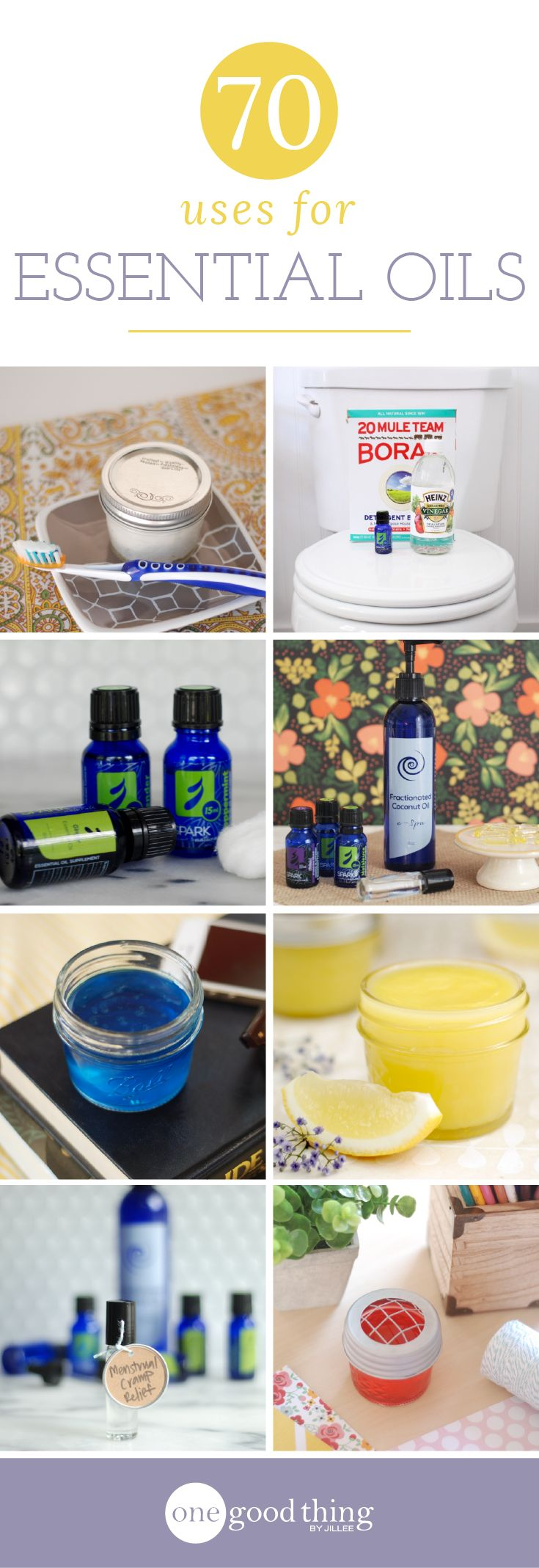 Wondering how to get started with essential oils? Here is a list of 70 of my favorite uses for essential oils, for pros and newbies alike!