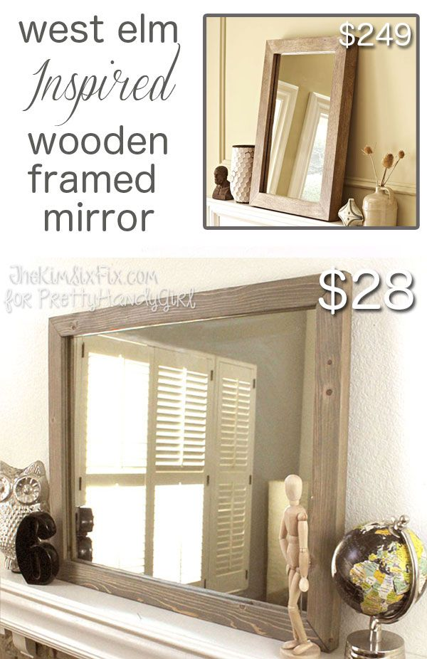 west elm inspired mirror from tongue and groove planking. Black Bedroom Furniture Sets. Home Design Ideas
