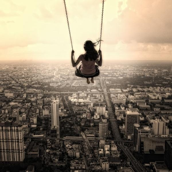 Inspiration, Dreams Big, Photos Manipulation, The View, Swings, Digital Art, The Cities, Feelings, Photography