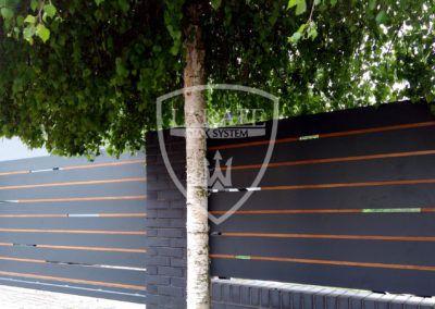 Nowoczesne wzory ogrodzeń, realizacje według koncepcji Klienta, Rybnik 2017