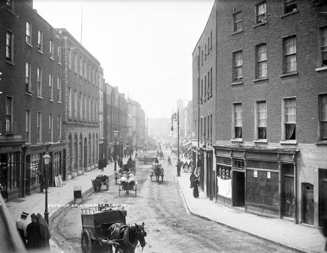 50 Amazing Photographs Capture Street Scenes Of The Munster Region Ireland From The Late 19th And Early 20th C Ireland Landscape Limerick City Ireland History