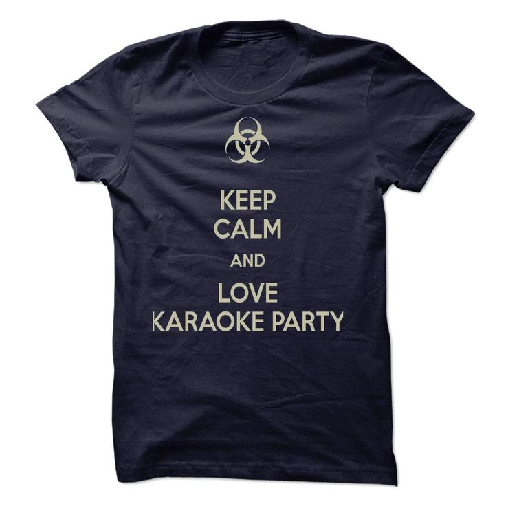 Keep Calm and Love Karaoke Party - Men's and Ladies T-Shirt or Hoodie