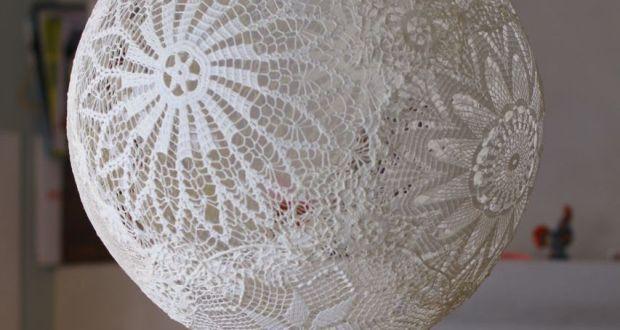 Lampadario di pizzo leggero ed elegante - Love DIY