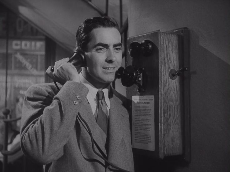 0 Tyrone Power on the phone in The Razor's Edge (1946)