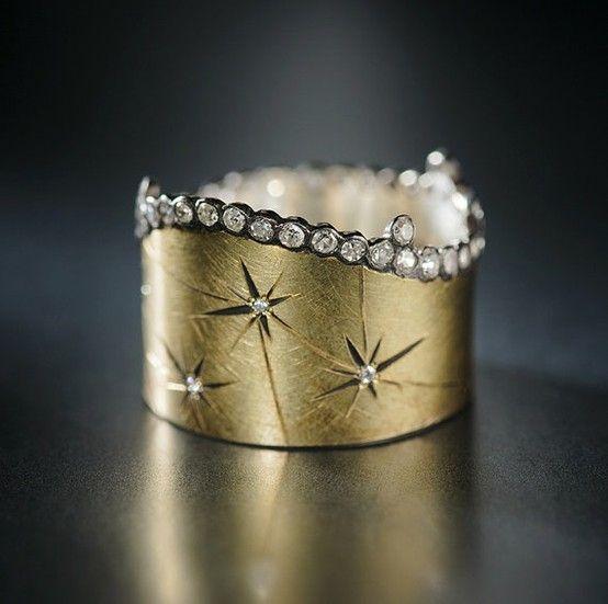 Bohemian wedding ring, boho engagement ring, boho bride -via Adam Foster - Ring   http://www.fosterjewelry.com/