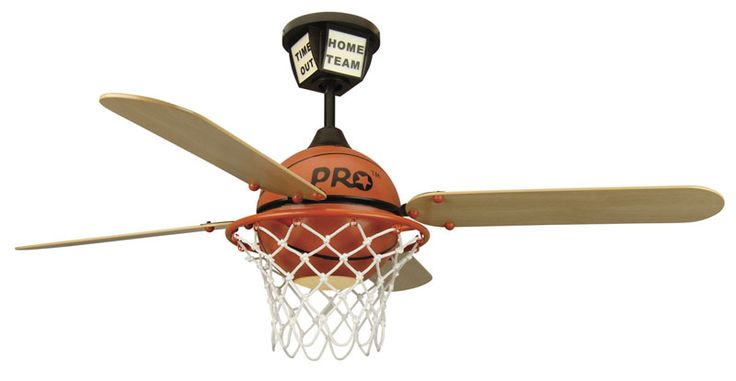 Cool basketball ceiling fan for the sports-lover's bedroom!