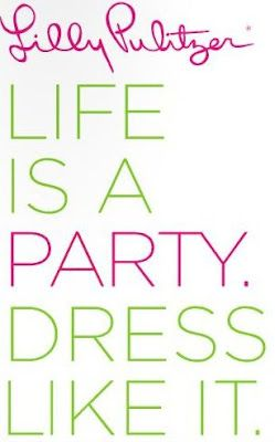 Life is a party, y'all! LillyPulitzer & SouthernWeddings