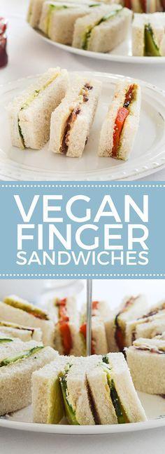 Vegan Tea Finger Sandwiches   #vegan