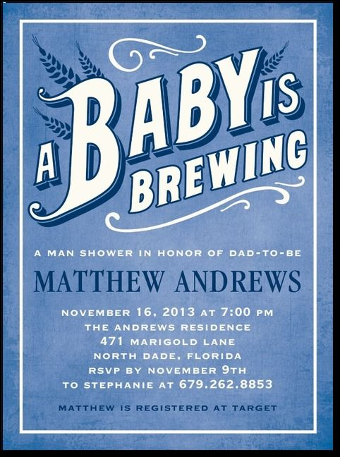 Love this for our baby shower since it's going to be at a local brewery!