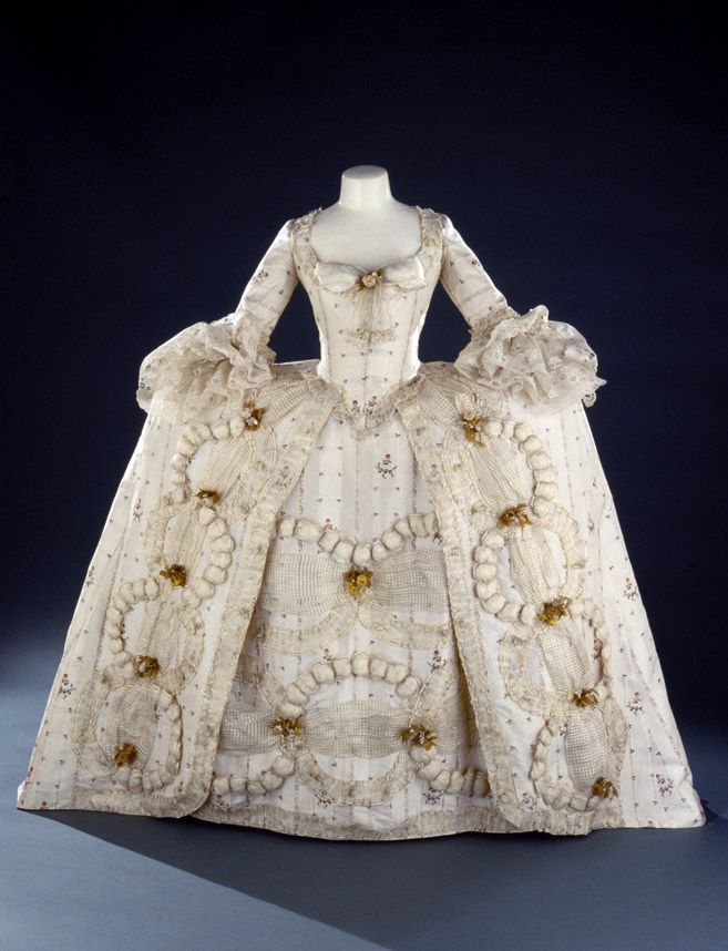 Robe a la francaise ca. 1780-85 From the Royal Ontario Museum