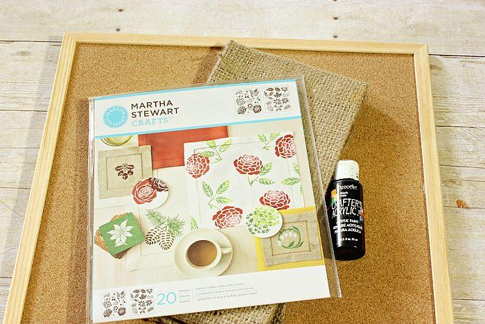 Make a Burlap Cork Board... With Pockets!