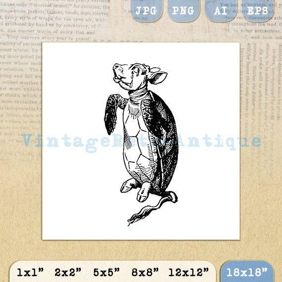 Alice in Wonderland Mock Turtle Image by VintageRetroAntique