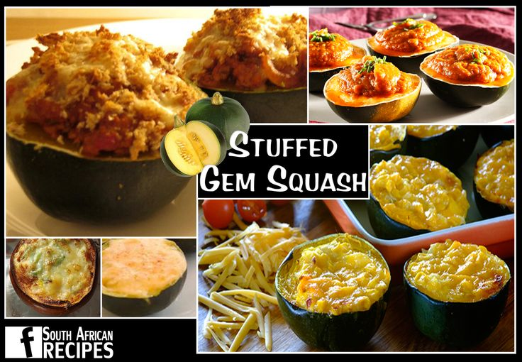 South African Recipes   STUFFED GEM SQUASH
