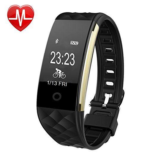 Willful SW328 Fitness Tracker mit Pulsmesser - Wasserdichte Fitness Armband Puls Armband Aktivitätstracker Schrittzähler Uhr mit Schlafmonitor Kalorienzähler Vibrationsalarm Anruf SMS Whatsapp Beachten mit iPhone Android Handy kompatibel.