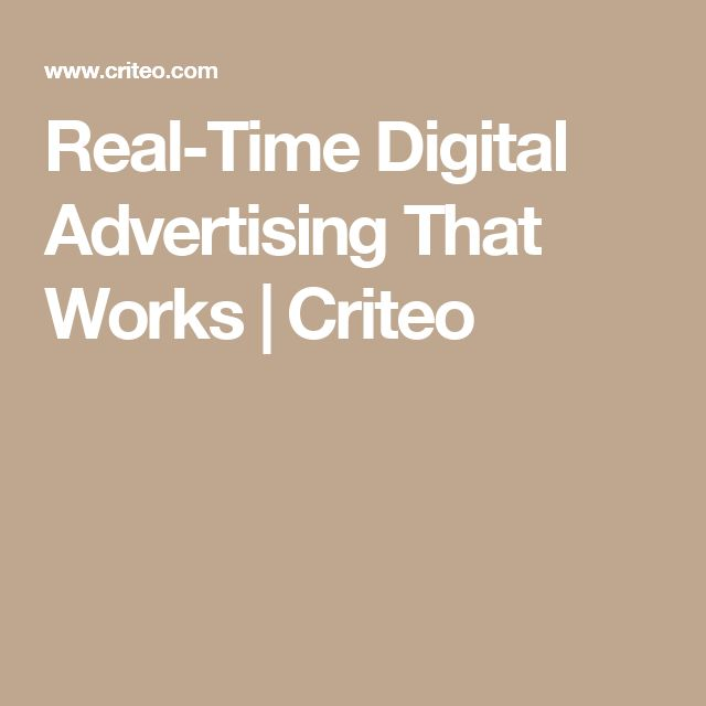 Real-Time Digital Advertising That Works | Criteo