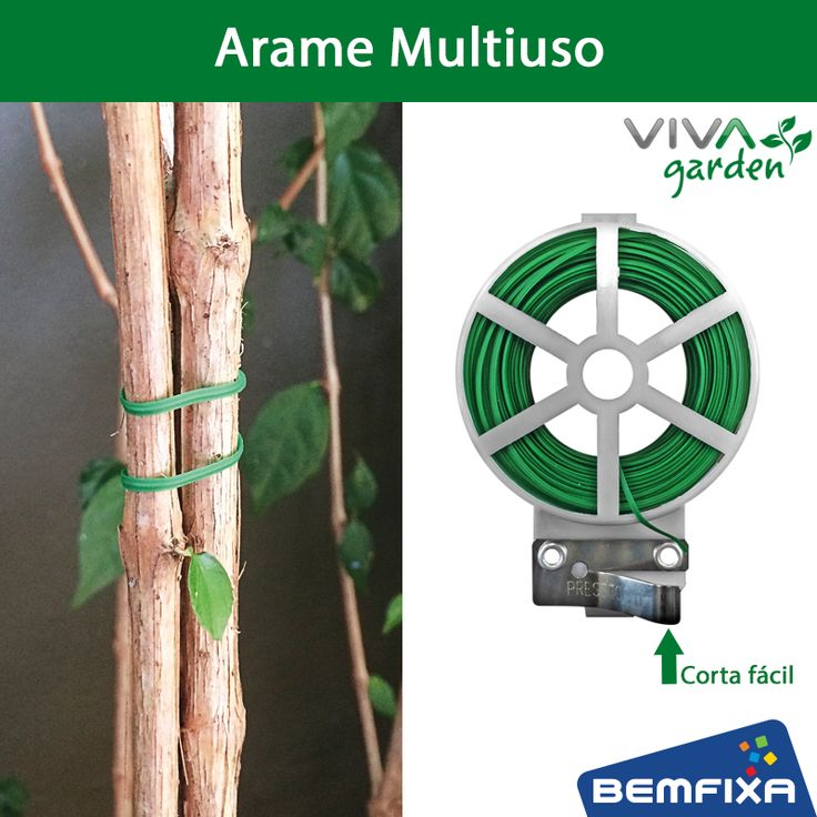 """Um jeito prático para atar plantas e guiar seu crescimento, utilize o Arame Multiuso VIVA Garden!  Para facilitar o uso possui um sistema """"Corta Fácil"""" Compre aqui: http://bit.ly/2dwNjsl"""