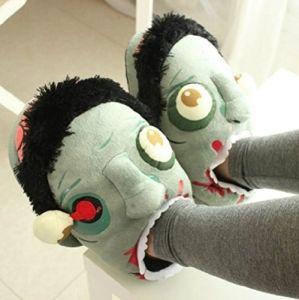 Тапочки Зомби - Zombie Plush Slippers (домашние плюшевые тапочки в виде головы Зомби) | Обзор товаров, прикольные и необычные товары, вещи, штуки, гаджеты и подарки