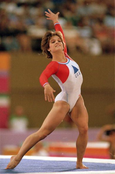 1984 Summer Olympics USA Mary Lou Retton in action during Women's competition at Pauley Pavilion Los Angeles CA 7/28/19848/12/1984 CREDIT Andy Hayt