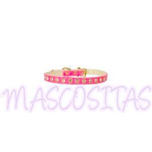 Collar para color rosa con cristales Swaroski.¡Combínalo con la correa!