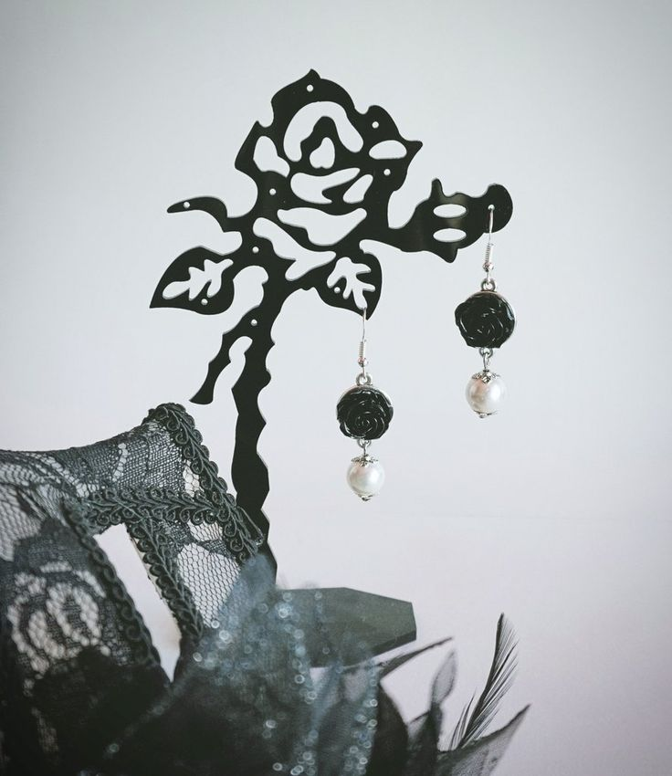 """Ebony Elegance"" Earrings"