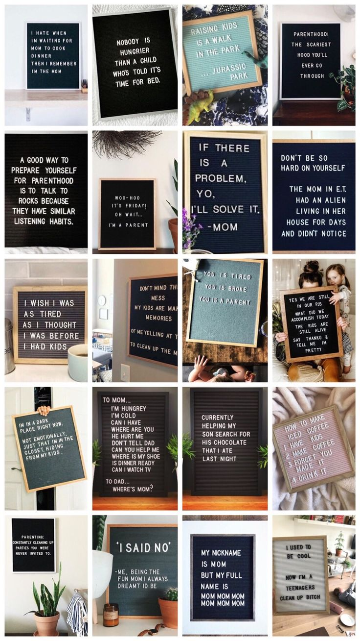 "20x die besten ""Mom Letterboard Zitate""   – For the Home"