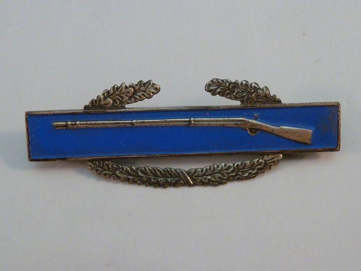 WWII Sterling Combat Infantryman Badge Pin Infantry CIB Original US Vet's Estate