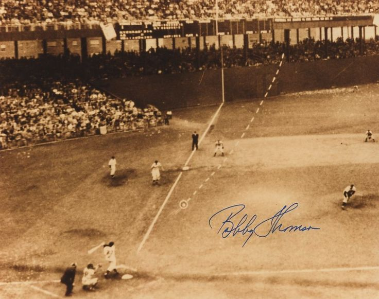 March 22, 1962 - A former Giant, requesting anonymity, reveals that Bobby Thomson's home run [photo] in the 1951 playoffs against the Dodgers was helped by a sign-stealing clubhouse spy. The spying is claimed to have gone on for the last three months of the season. Thomson and former manager Leo Durocher vehemently deny that any help was received, but a source close to the team confirms the spy operation.