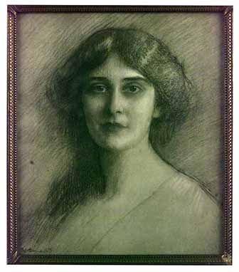 Bosquejo de Victoria Ocampo. Artista: Dagnan Bouveret. Fecha: 1910.