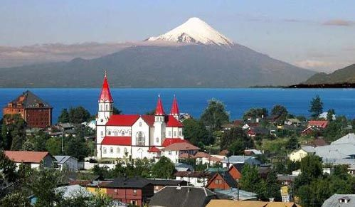 Pucon is a beautiful lakseside resort in Chile.