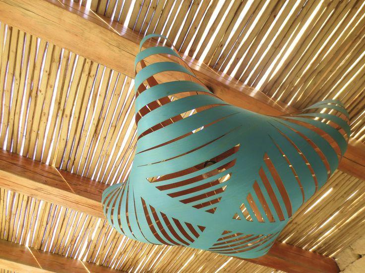 """The Cloud"" - turquoise ceiling lights from Mos Products. #OceanHouse #Morukuru #De Hoop #SouthAfrica #decor #design #Africa #light"
