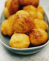 Crispy, Creamy Potato Puffs - these look like the cheese balls from Hugo's. I am going to make them but add twice the cheese called for. Boom!